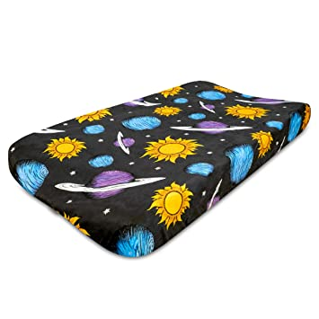 Changing Pad Cover Planet Party ~ Galaxy Changing Pad ~ Change Pad ~ Changing Pad ~ Baby Bedding ~ Planet Nursery ~ Diaper Pad Cover