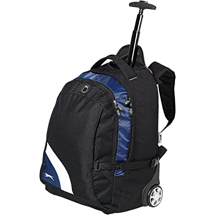 d75c4eae790 SLAZENGER - Trolley backpack - black/blue: Amazon.co.uk: Clothing