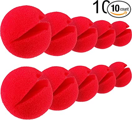 Brand New Nose Ball Red Circus Halloween Clown Comic Party Costume 10pcs