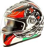 Suomy Halo Streetbike Racing Motorcycle Helmet, Biaggi Replica, Medium