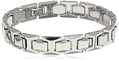 Fine Jewelry Mens Stainless Steel and Tungsten Bracelet fSAeIg