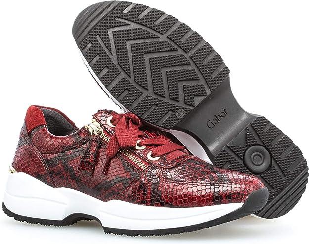Gabor Damen Sneaker, Frauen Low Top Sneaker,Comfort Mehrweite,Optifit Wechselfußbett