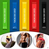 Resistance Loop Bands - Best 5 Premium Exercise Bands - Great for Workout & Physical Therapy, Pilates, Yoga, Rehab, Improve Mobility and Strength - Suitable for Women and Men - 100% Natural Latex!