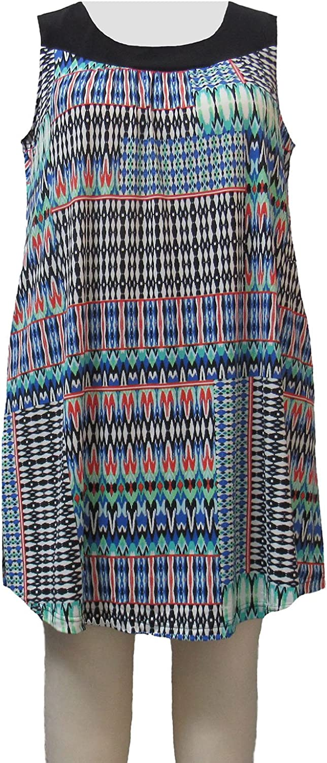 A Personal Touch Womens Plus Size Azure Tribal Cover Up Dress