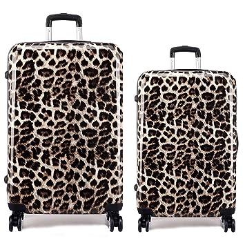 """Kono - Maleta estampado de leopardo 24"""" ..."""