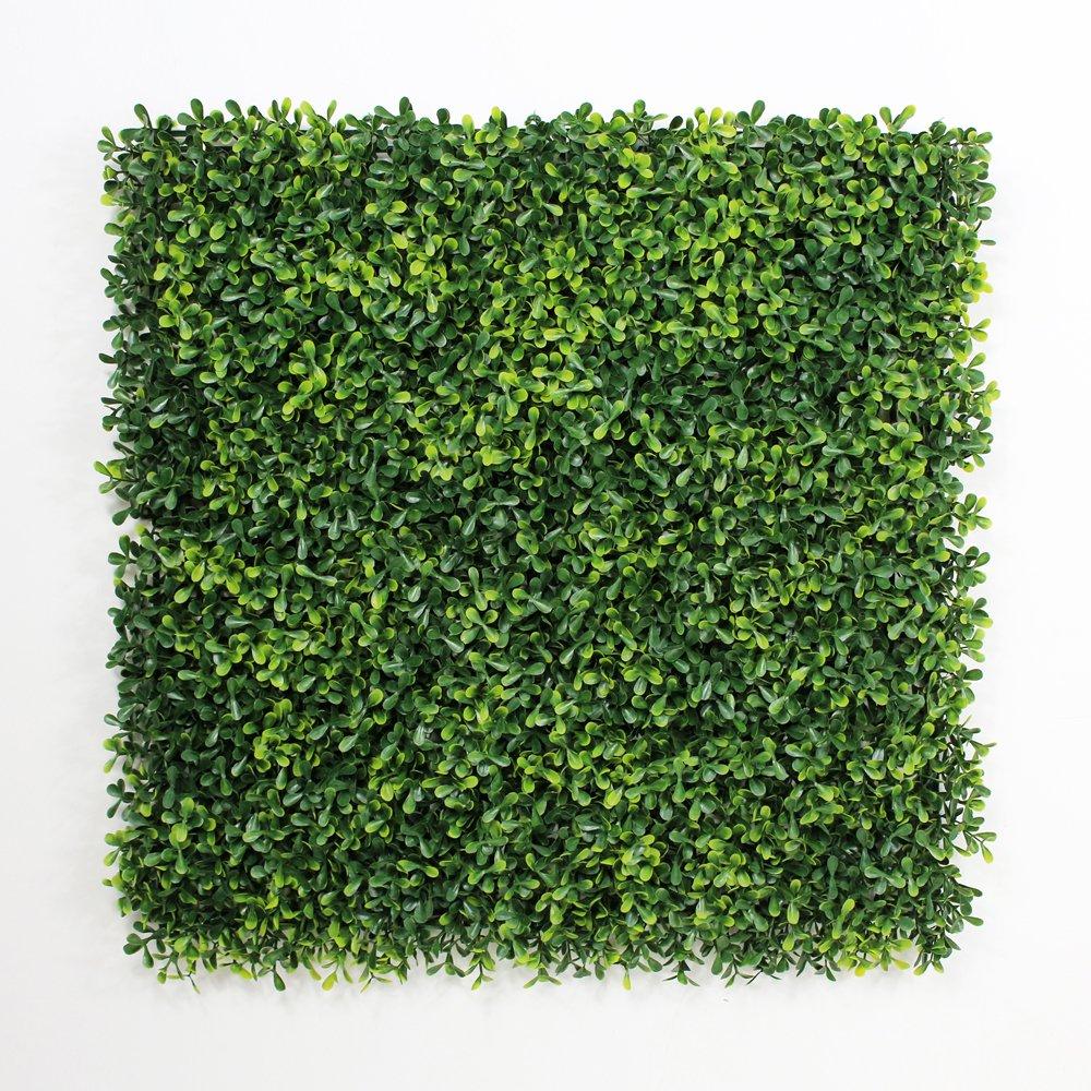 フェイクグリーンマット 人工植物葉フェンス プラスチックパネル 壁掛 ベランダ 家の庭の装飾 50x50cm/枚(12枚, 黄色い) B072MQPZDX 12枚|黄色い 黄色い 12枚