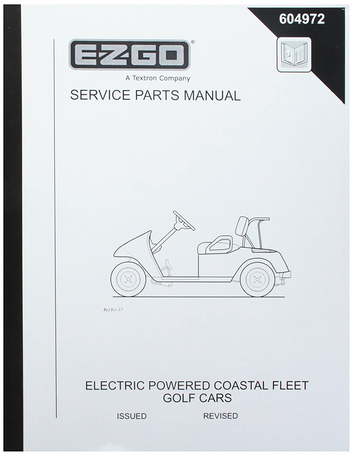 Amazon.com : EZGO 604972 2006 Service Parts Manual for Electric Coastal  Fleet Golf Cars : Outdoor Decorative Fences : Garden & Outdoor