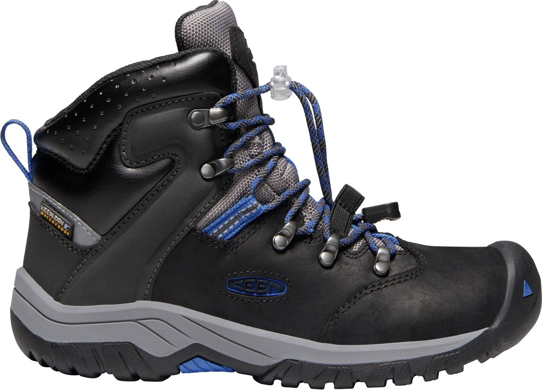 KEEN - Kid's Torino II Mid Waterproof Winter Boots, Black/Baleine Blue, 7 M US Little Kid