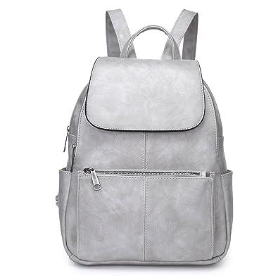 1fc7d0de7e Unisex-Adult Ladies Womens Faux Leather Girls Rucksack Backpack College Uni  Gym School Bag UK