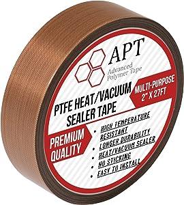 APT Teflon PTFE Glass Cloth Tape, High Temperature, Vacuum bag tape, Weston vacuum sealer parts ,Food saver sealer parts, Seal A Meal, Cabella's and Many More(1