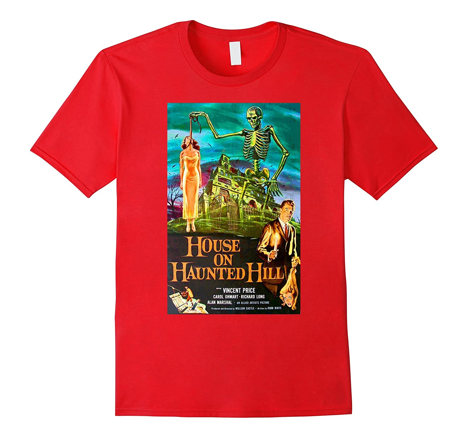 House On Haunted Hill Horror Film T-Shirt Novelty Tee Shirt-FL
