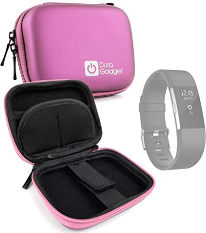 Flex 2 Ace Compatible with Fitbit Charge 3 Charge HR Alta HR DURAGADGET Premium Quality Pink Hard EVA Shell Case with Carabiner Clip /& Twin Zips Charge 2 Blaze Charge Versa Ionic