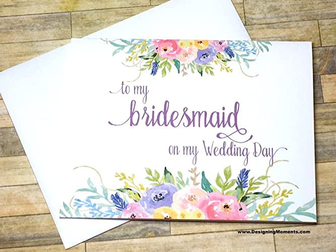Amazon Com Bridesmaid Thank You Card To My Bridesmaid On My