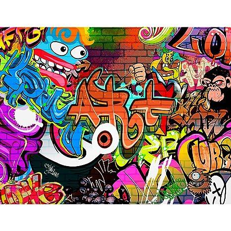 Fototapeten Graffiti Streetart 352 x 250 cm Vlies Wand Tapete Wohnzimmer  Schlafzimmer Büro Flur Dekoration Wandbilder XXL Moderne Wanddeko - 100%  MADE ...