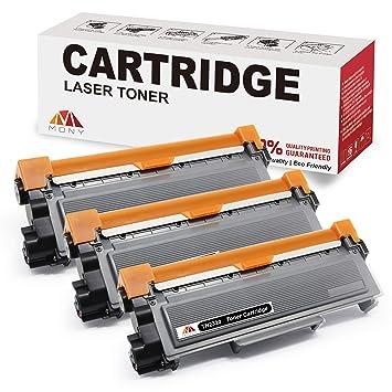 Mony Compatible Cartuchos de Tóner para Brother TN2320 TN-2320 (3 Negro) Compatible con Brother MFC-L2700dw HL-L2300d HL-L2340dw DCP-L2520dw ...