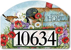 Yard Design Studio M Sweet Home Decorative Address Marker Yard Sign Magnet, Made in USA, Superior Weather Durability, 14 x 10 Inches
