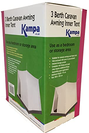 KAMPA 3 BERTH CAMPING CARAVAN AWNING INNER TENT BEDROOM NEW  sc 1 st  Amazon UK & KAMPA 3 BERTH CAMPING CARAVAN AWNING INNER TENT BEDROOM NEW ...
