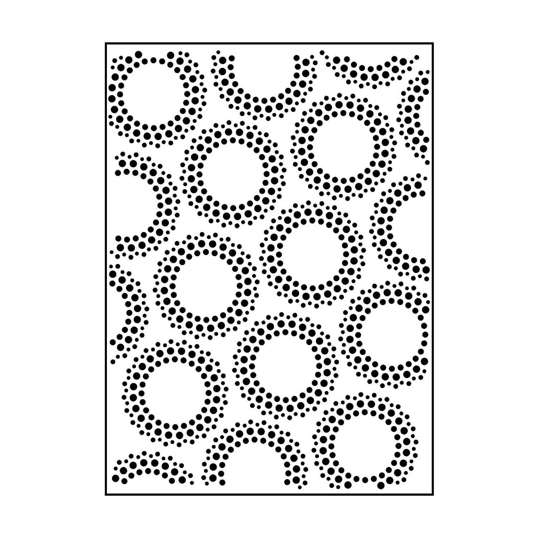 Carabelle Studio Cartella per Goffratura Mascherina Stencil Circolo Punti, Plastic, Transparent, 10.8x14.6x0.11 cm, AE60014