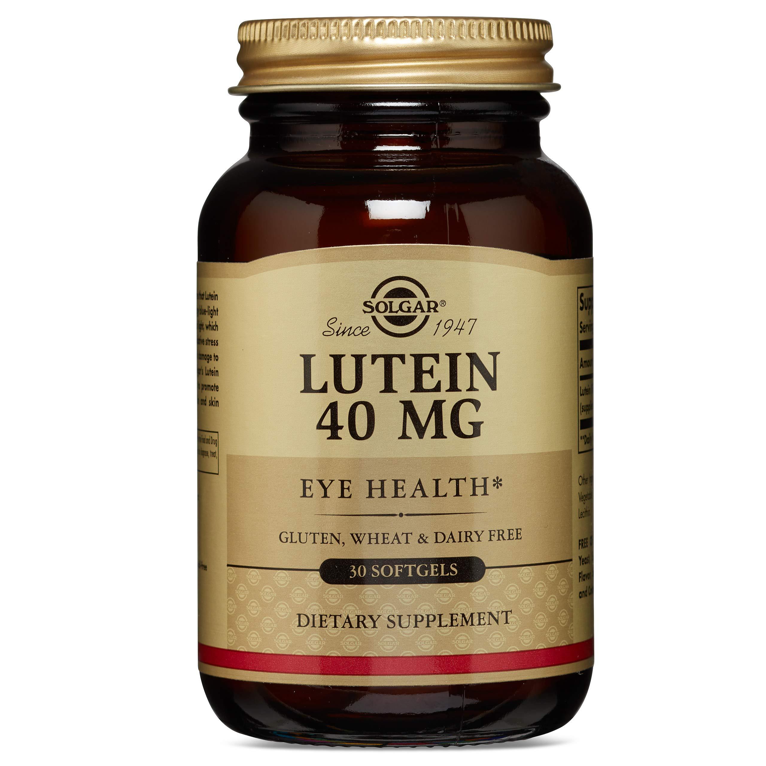 Solgar Lutein 40 mg, 30 Softgels by Solgar