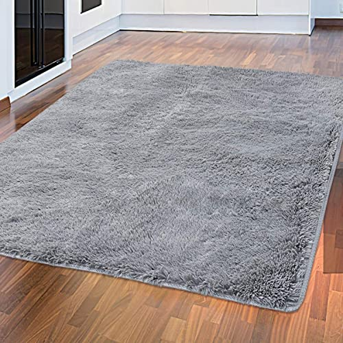 Tinzzi 5.3 ft x 7.5 ft Soft Fluffy Area Rug