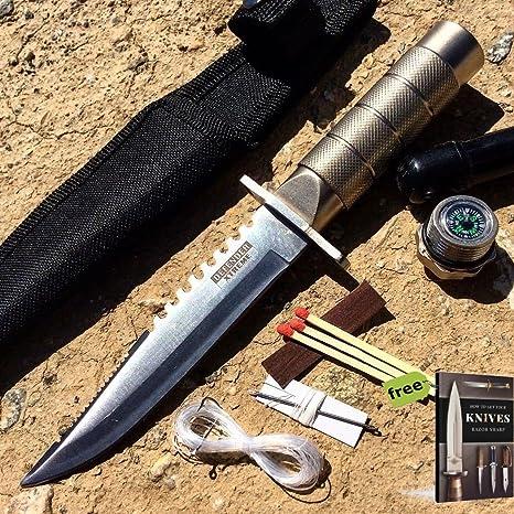Amazon.com: SURVIVAL STEEL - Cuchillo de supervivencia de ...