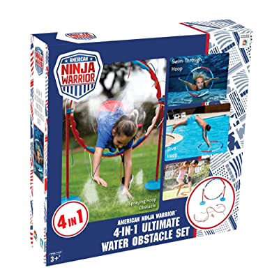 American Ninja Warrior Ultimate Aqua 4 in 1 Obstacle Challenge: Toys & Games