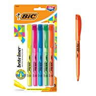 BIC Brite Liner Highlighter, Chisel Tip, Assorted Colors, 5-Count