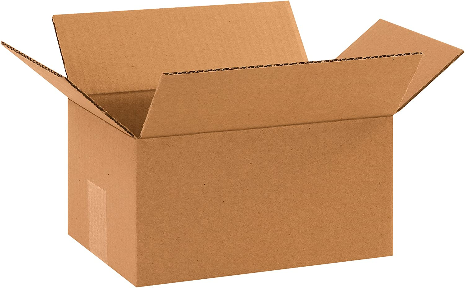 Partners Brand P1075 Corrugated Boxes Kraft 10L x 7W x 5H Pack of 25