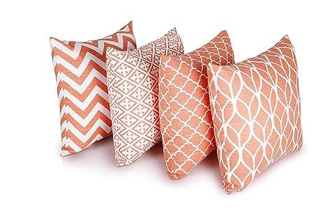 Penguin Home Cushion Cover Funda de cojín, algodón, Coral ...