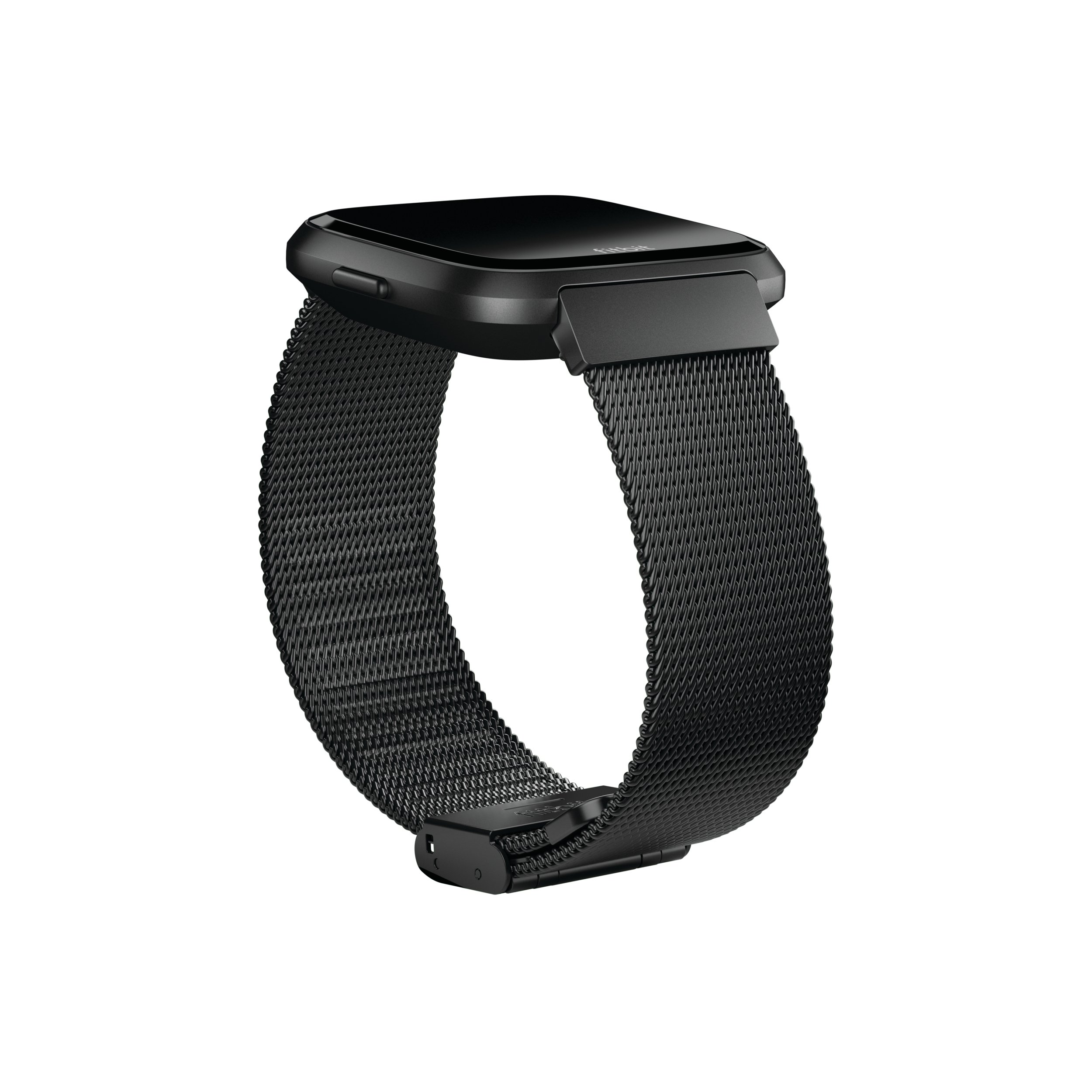 Fitbit Versa Family Accessory Band, Official Fitbit Product, Stainless Steel Mesh, Black, One Size by Fitbit (Image #2)