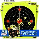 "BEEWARE Targets (THICKER - BRIGHTER - BETTER) 12"" Circle Fluorescent Reactive Splatter Targets for Shooting Indoor/Outdoor Ranges"