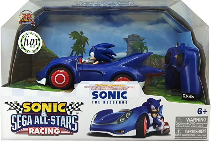 Amazon Com Nkok Sonic And Sega All Stars Racing Remote Controlled Car Sonic The Hedgehog Toys Games