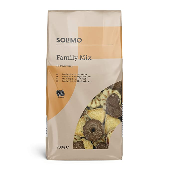 Marca Amazon - Solimo - Galletas Family Mix - 6 packs de 700g