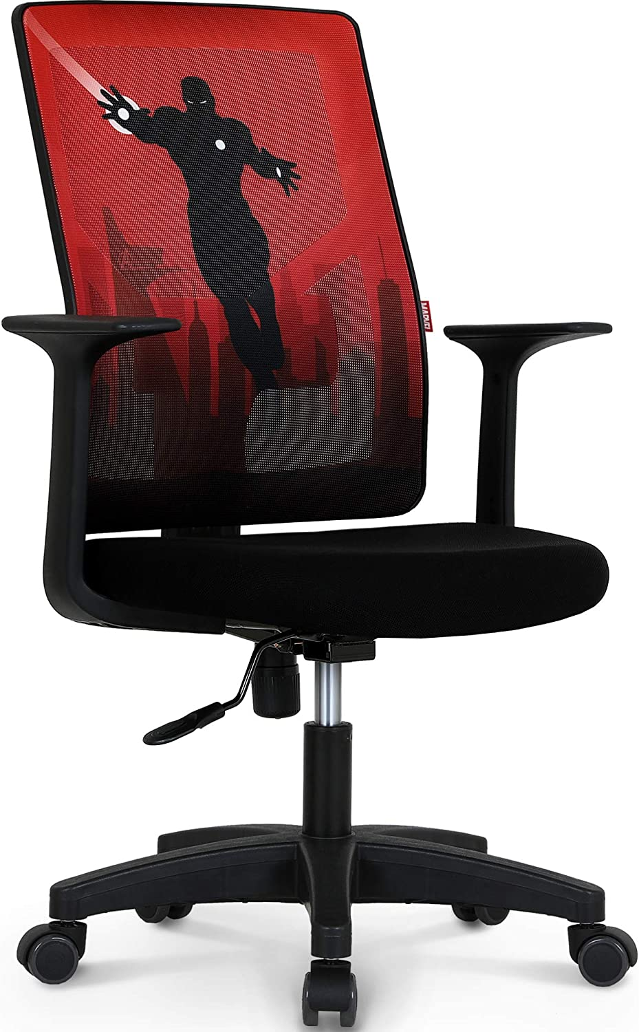 Marvel Avengers Office Chair Computer Desk Chair Gaming - Ergonomic Mid Back Cushion Lumbar Support Wheels Comfortable Mesh Racing Seat Adjustable Swivel Rolling Home Executive