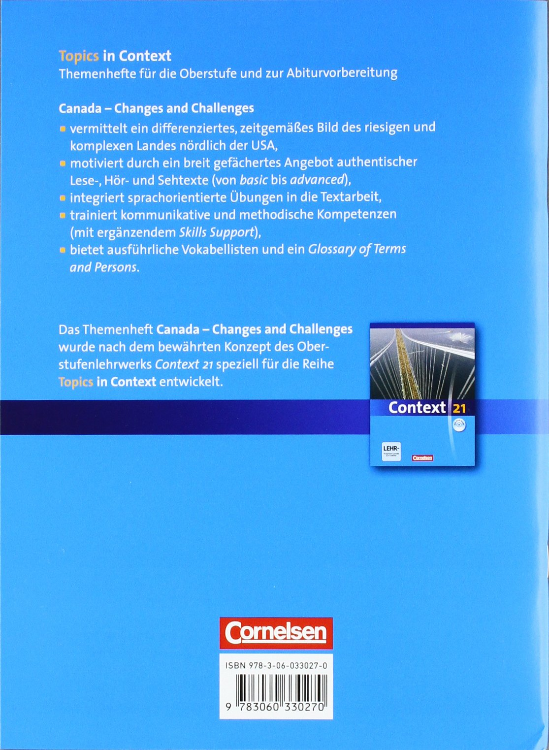 Topics in Context: Canada - Changes and Challenges: Schülerheft ...