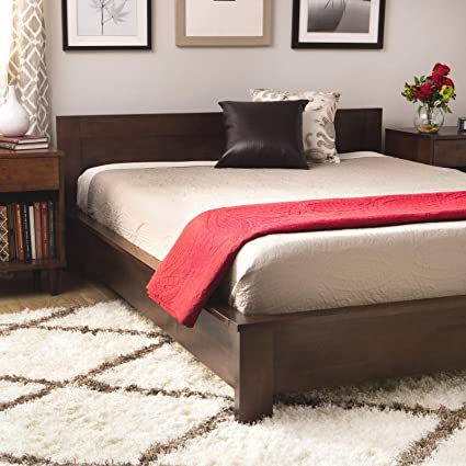 Amazoncom Low Profile King Size Bed Frame Wooden Platform Home