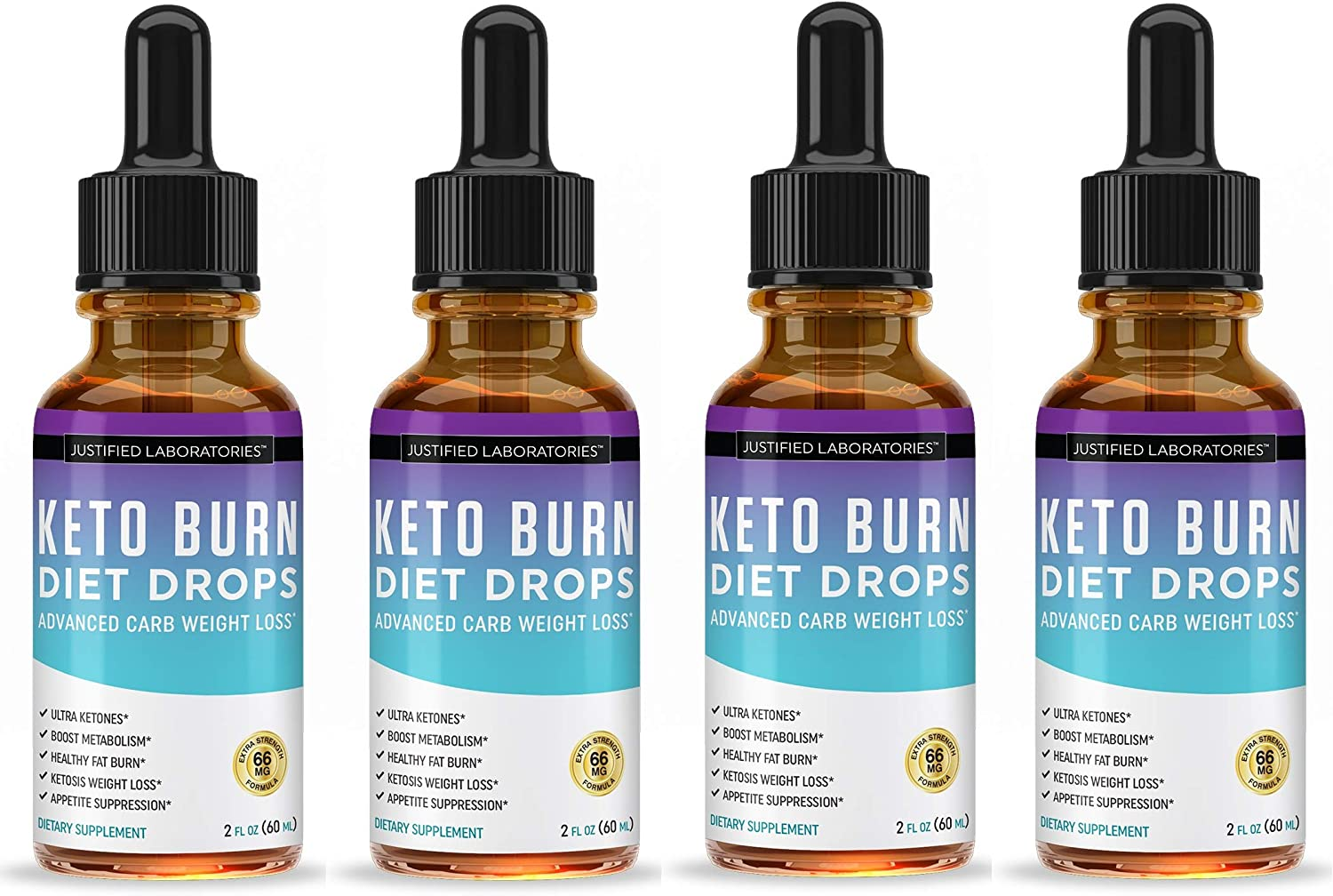 Keto Diet Supplement Drops Shred Burn Ketones for Faster Ketosis Weight Loss Appetite Suppressant Loose Unwanted Belly Fat Raspberry Ketone African Mango Advanced Dietary Blend Made in USA 4 Bottles