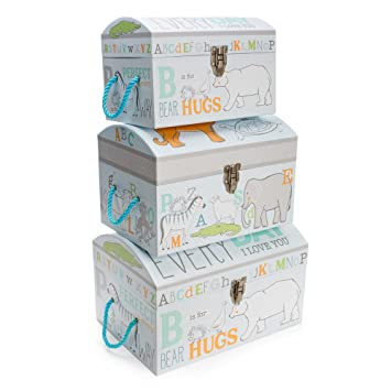Ordinaire Tri Coastal Design Animal Crackers Nested Dome Trunks Features 3 Different  Sizes Bin Box Storage Chest