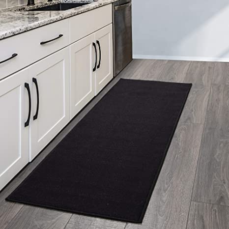 Amazon Com Sweet Home Stores Rug 20 X 59 Black Furniture Decor