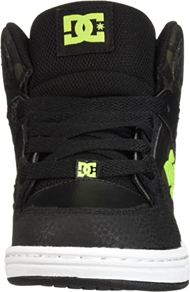 RACKING004 DC Kids Pure High-Top Shoes Black//Pink RRP £49