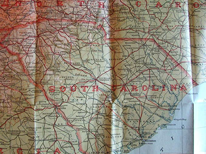 Map Of Georgia Tennessee And South Carolina.Amazon Com Georgia North South Carolina Tennessee Atlanta