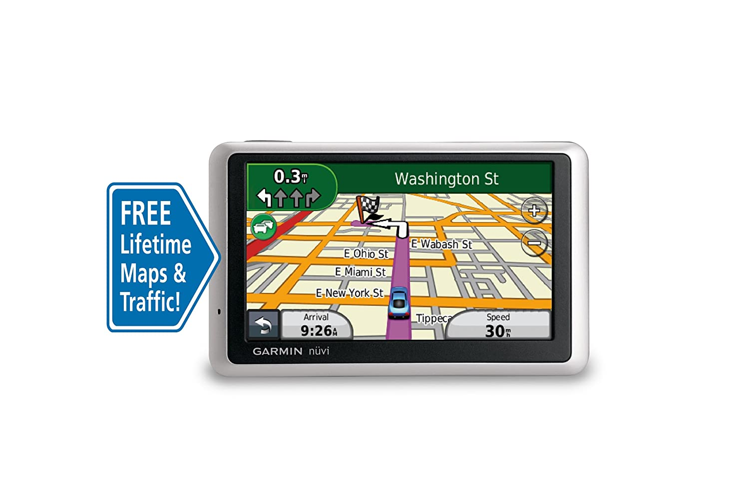 amazon com garmin n vi 1350lmt 4 3 inch portable gps navigator with rh amazon com Garmin Nuvi 1350 Update Maps Reset Garmin Nuvi 1350