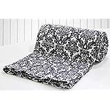 Aurave Prism Black Damask Cotton Duvet/Quilt Cover - Single Size (60 X 90 inches), 1 Piece
