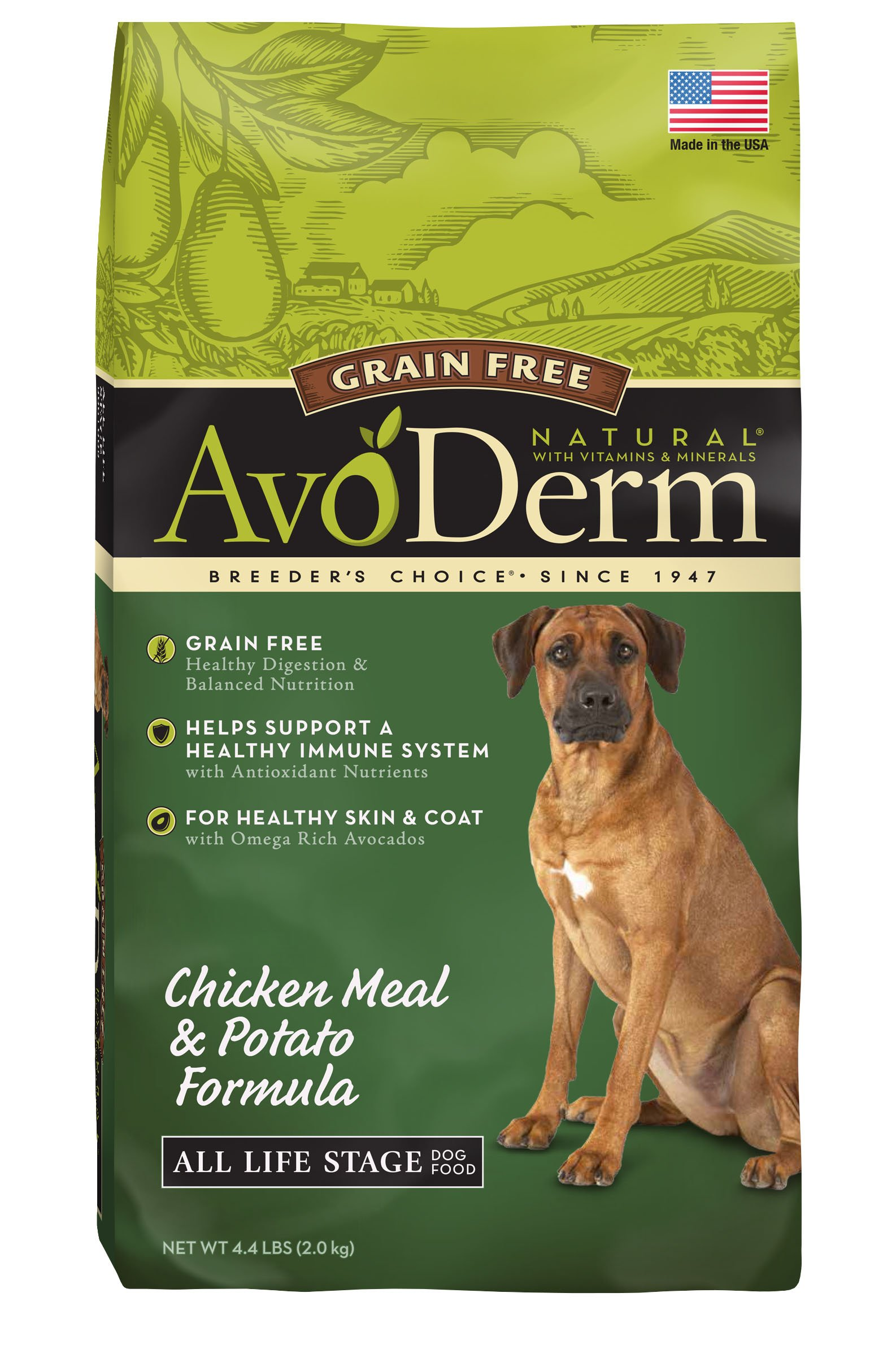 AvoDerm-Natural-All-Life-Stages-Dry-Wet-Dog-Food-Grain-Free-Chicken-Vegetables-Recipe