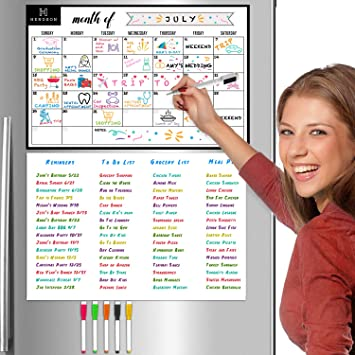 Magnetic Dry Erase Board Sheets for Fridge 23 x 17 inches//Refrigerator Whiteboad