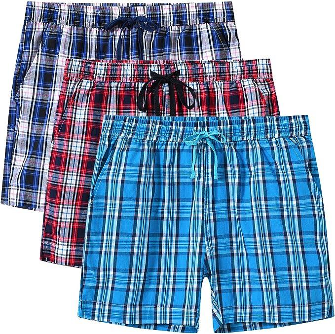 JINSHI Mujer Pantalón Pijama Corto de Algodón Verano Shorts a ...