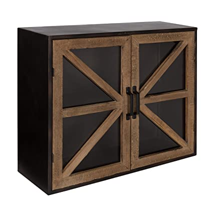 Amazon Kate And Laurel Mace Farmhouse Rustic Wood And Metal