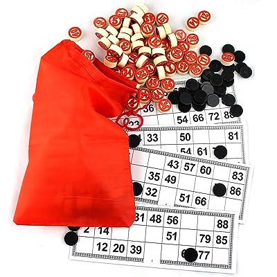 Russian Lotto Game - Russian Bingo Board Game Set: Toys & Games