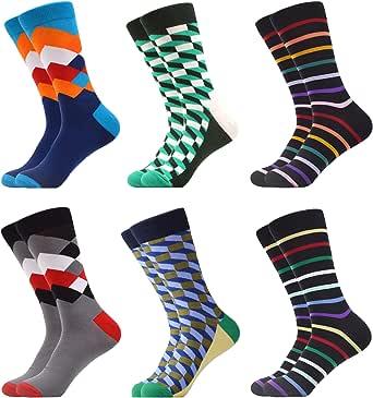 WeciBor Calcetines Hasta La Hombre Estampados Hombres Ocasionales Calcetines Divertidos Impresos de Algodón de Pintura Famosa de Arte Calcetines Calcetines de Colores de moda…