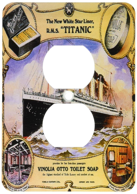 【全商品オープニング価格 特別価格】 3drose_ LSP_ Titanic 149245_ B00E1Q2KDY 6ヴィンテージホワイトスターLine Titanic Vinolia OttoトイレSoap広告ポスター2プラグコンセントカバー B00E1Q2KDY, 稲葉納豆工業所:3ce21f51 --- svecha37.ru